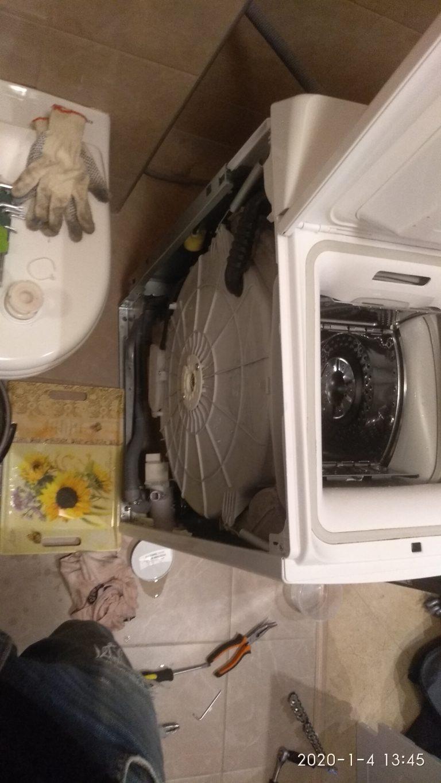Демонтаж бака стиральной машинки